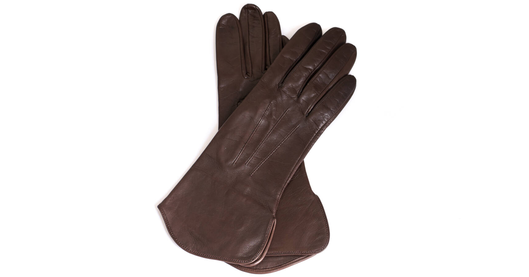 Harssidanzar Lady Fingerlose Lederhandschuhe Schaffell Single Line Half Finger GL012