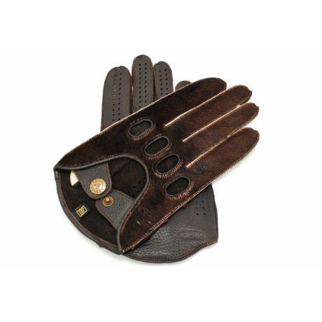 Men's deerskin leather driving gloves COW-BROWN