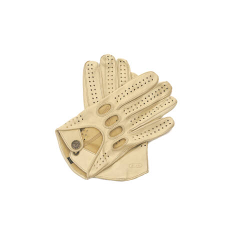 Men's Hairsheep Leather Driving Gloves BEIGE