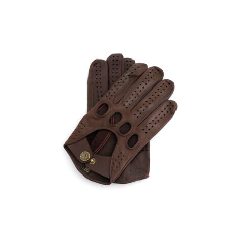 Men's Hairsheep Leather Driving Gloves BROWN