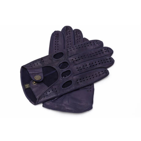 Men's hairsheep leather driving gloves NAVY