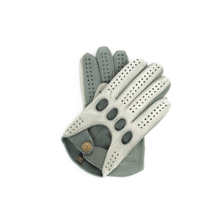 Men's Hairsheep Leather Driving Gloves SILVER-GREY