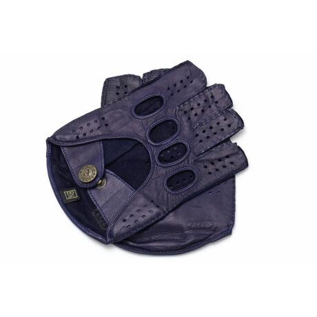 Men's hairsheep leather fingerless gloves NAVY