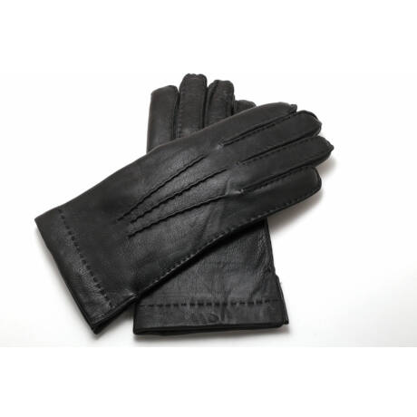 Men's deerskin leather gloves with rabbit fur lining