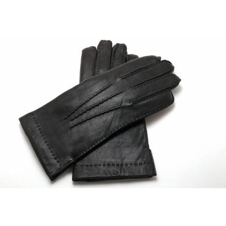 Men's deerskin leather gloves with rabbit fur lining