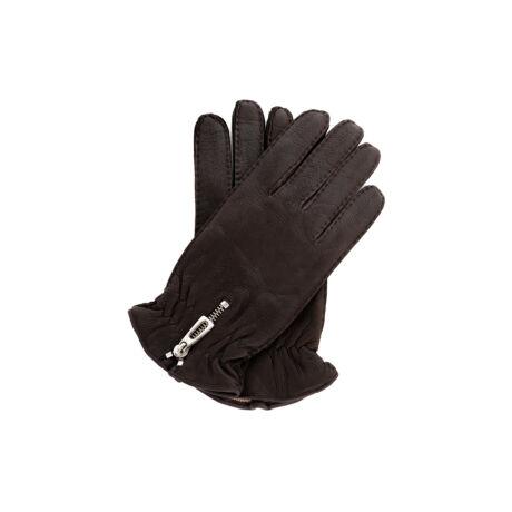 Men's deerskin leather gloves with wool lining BROWN