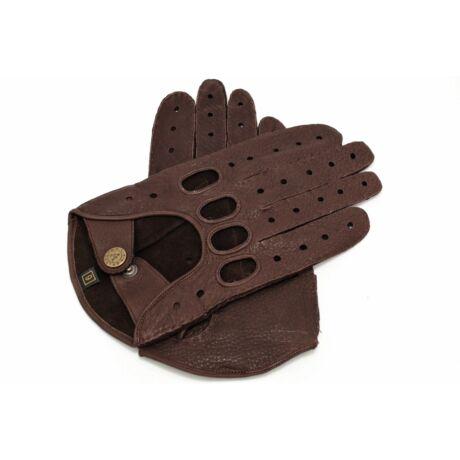 Men's deerskin leather driving gloves BROWN