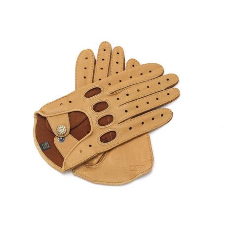 Men's deerskin leather driving gloves TAN