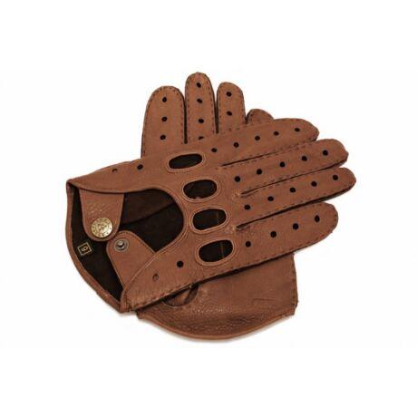 Men's deerskin leather driving gloves WALNUT
