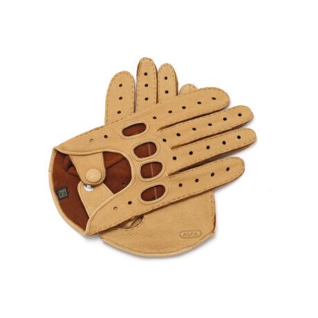 Men's deerskin leather driving gloves CORK(G)