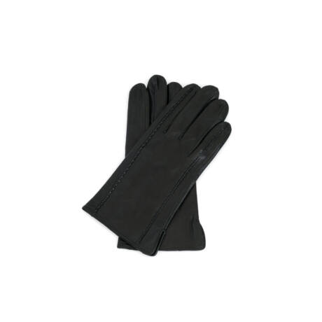 Men's hairsheep leather gloves lined with silk