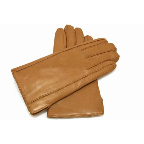 Men's hairsheep leather gloves lined with lamb fur