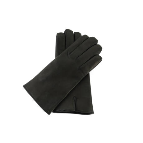 Men's hairsheep leather gloves lined with rabbit fur
