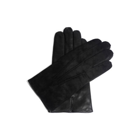 Men's suede leather gloves lined with wool
