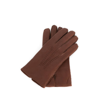 Men's deerskin leather gloves with wool lining