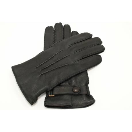 Men's deerskin leather gloves lined with lamb fur