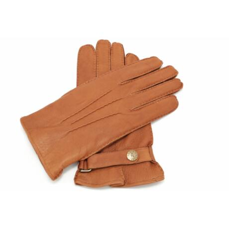 Men's deerskin leather gloves lined with wool