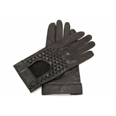 Men's Hairsheep Leather Driving Gloves BLACK