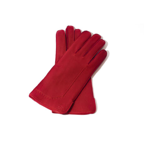 Women's deerskin leather wool lined gloves