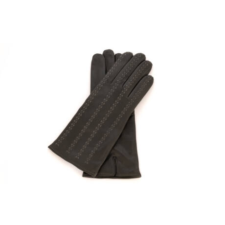 Women's hairsheep leather gloves lined with wool GREY