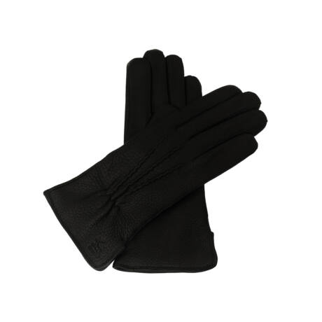 Women's deerskin leather gloves, wool lined