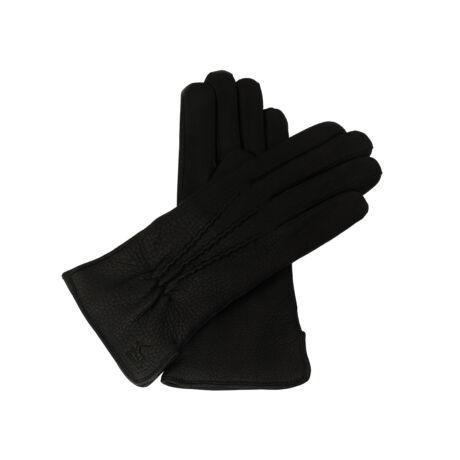Women's deerskin leather gloves, wool lined