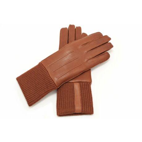 Women's deerskin leather lamb fur lined gloves