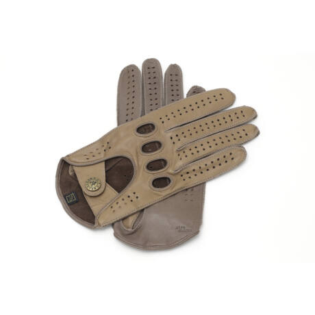 Women's hairsheep leather driving gloves CAMEL-TAUPE
