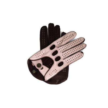 Women's hairsheep leather driving gloves PINK-WINE