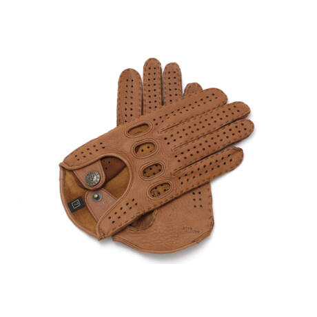 Women's deerskin leather driving gloves COGNAK