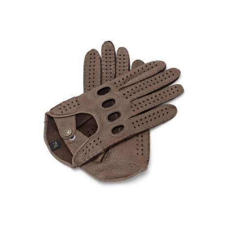 Women's deerskin leather driving gloves TAUPE
