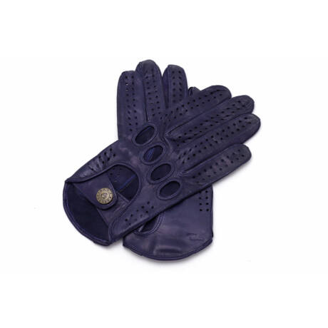 Women's hairsheep leather driving gloves BLUE