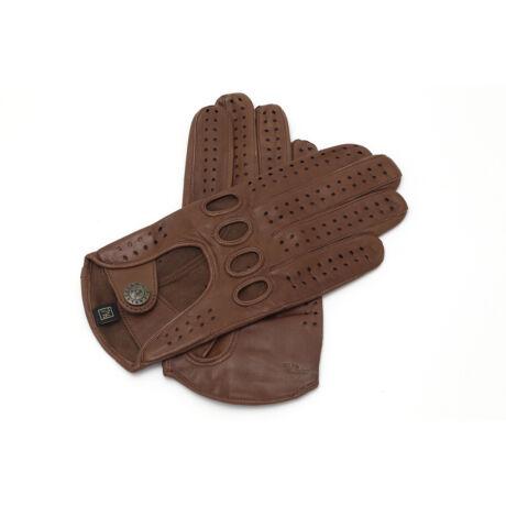 Women's hairsheep leather driving gloves COGNAK