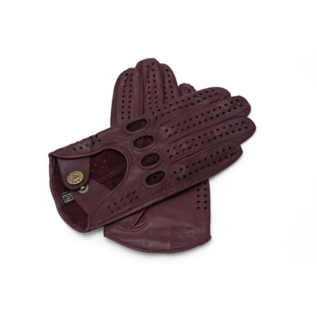 Women's hairsheep leather driving gloves WINE