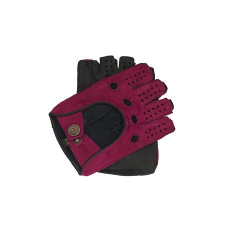 Women's fingerless gloves BERRY-BLACK