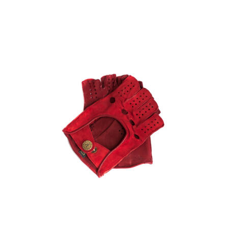 Women's fingerless gloves RED