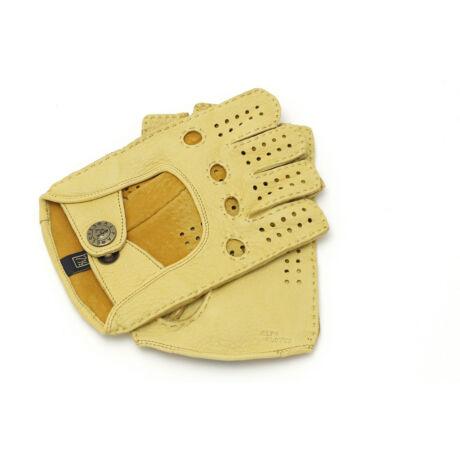 Women's deerskin leather fingerless gloves HONEY