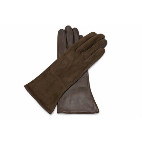 Women's silk lined leather gloves BROWN(V)