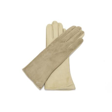 Women's silk lined leather gloves BEIGE(V)
