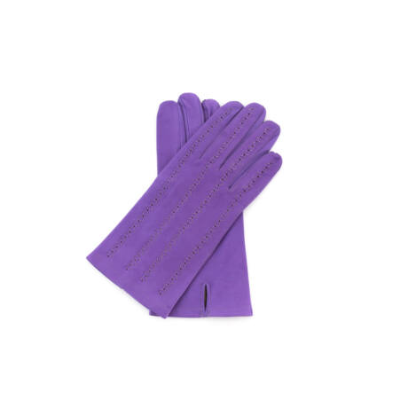 Women's unlined leather gloves LILAC
