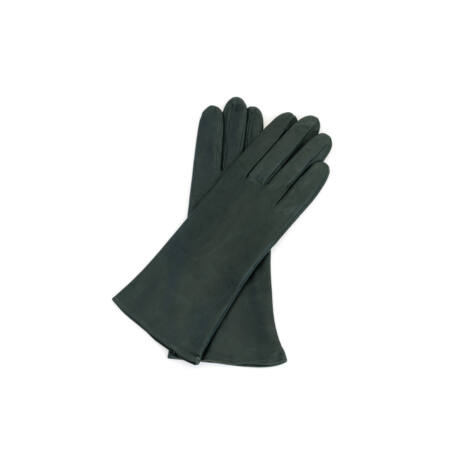 Women's silk lined leather gloves GREY