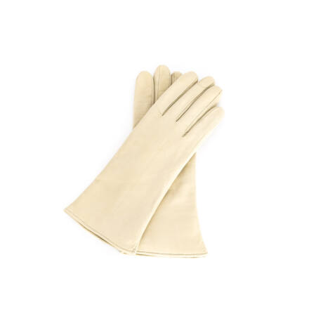 Women's hairsheep leather gloves lined with wool BEIGE