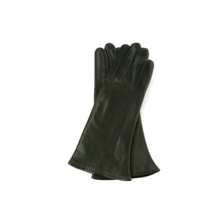 Women's hairsheep leather gloves lined with wool GREEN