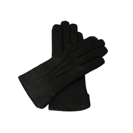 Women's deerskin leather gloves with wool lining