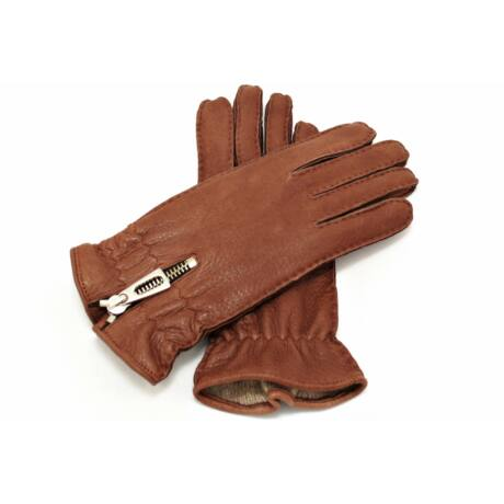 Women's deerskin leather gloves with wool lining