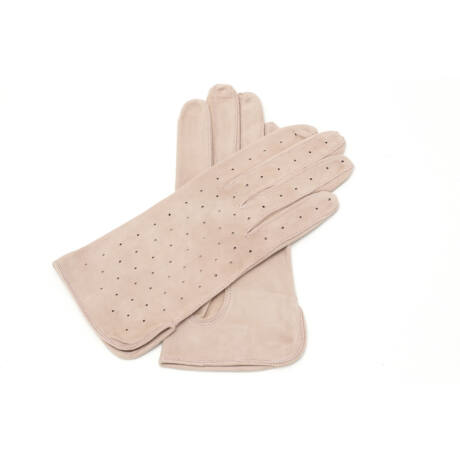 Women's suede leather unlined gloves