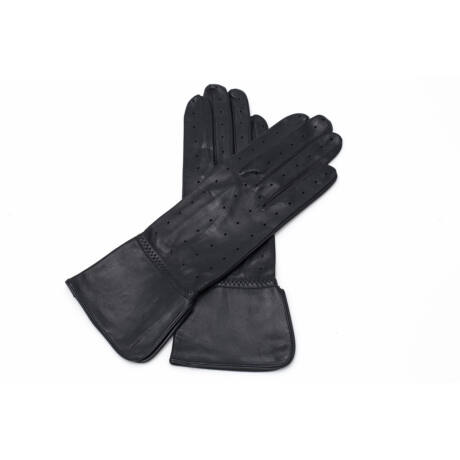 Women's unlined leather gloves BLACK