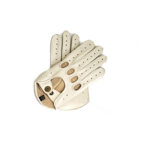 Women's deerskin leather driving gloves BONE