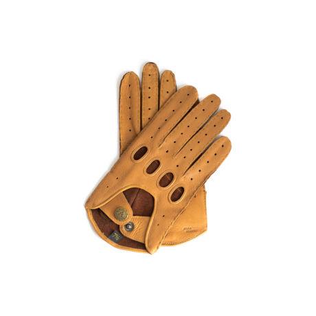 Women's deerskin leather driving gloves COGNAK