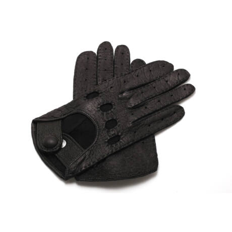 Women's peccary leather driving gloves BLACK